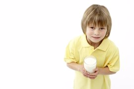 Niños con alergia a la leche