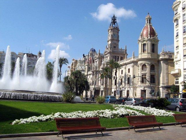 Valencia, Plaza del Ayuntamiento