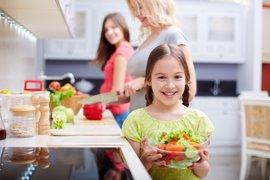 Los niños y las verduras en su alimentación