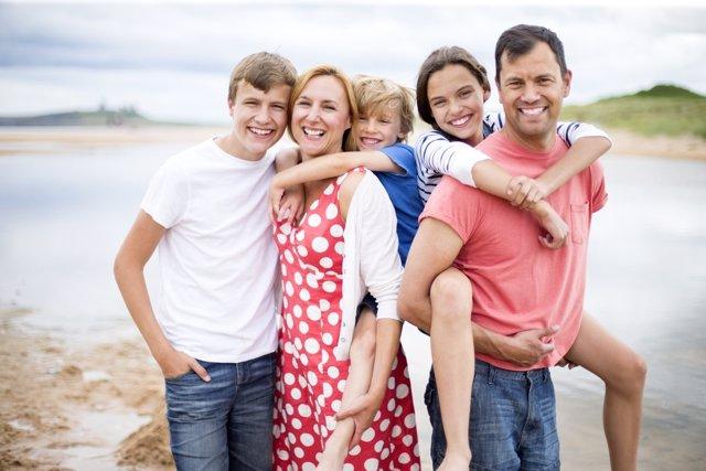 Adolescentes en familia