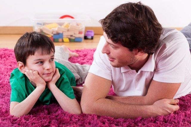 Hablar con los más pequeños siempre es una gran opción ante los reveses.