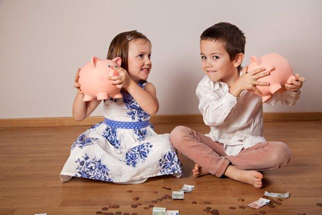 A partir de los 5 años los niños desarrollan un carácter respecto al dinero.