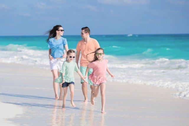 En estas playas la diversión en familia está asegurada.