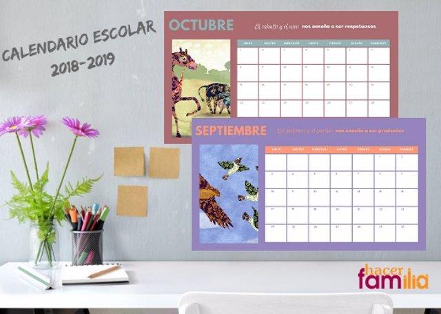 Calendario escolar 2018-19 Hacer Familia