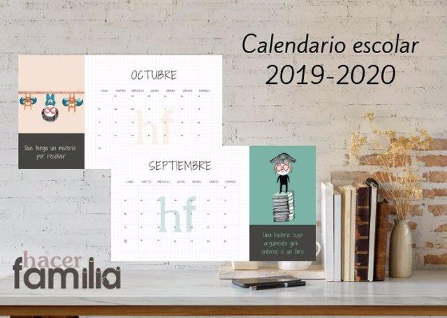Descárgate el calendario escolar 2019-2020 de Hacer Familia
